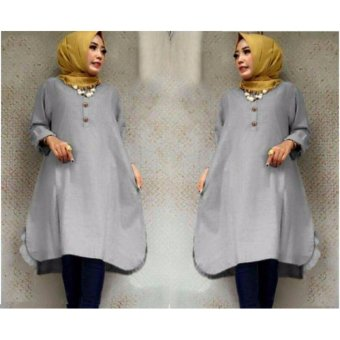 Ayako Fashion Tunik Laila - (Grey)