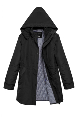 AZONE ACEVOG Women Fashion Casual Hooded Waterproof Windproof Long Coat Outwear (Black) (Intl)