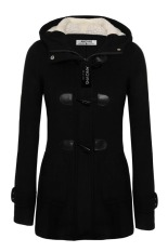 Azone Angvns Stylish Ladies Women Casual Long Sleeve Hoodie Hip Length Solid Winter Warm Pockets Coat Outwear (Intl)