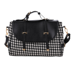 Azone Women Fleece Casual Handbag (Black)