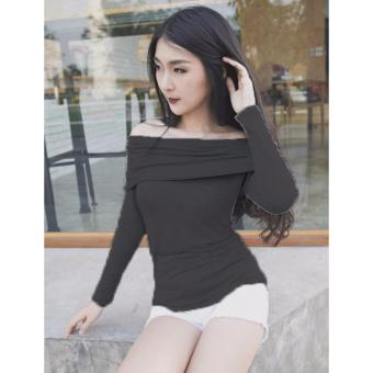Azure fashion Celly Top - Hitam / atasan wanita / blouse wanita / blouse sabrina / atasan sabrina