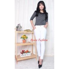 Azure Fashion - CLOWY PANTS PUTIH | BAWAHAN WANITA | LEGGING | CELANA PANJANG
