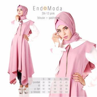 Baju Original Endo Moda Blouse Atasan SN-12 Kaos Wanita Baju Muslim Tunik Kemeja Kaos Pink