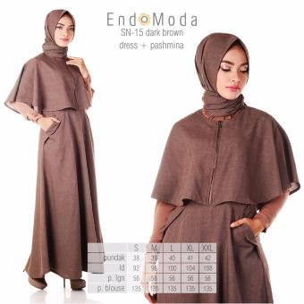 Baju Original Endo Moda SN-15 Dress Wanita Baju Muslim Modern Gamis Katun  Supernova Premium bcd2e77eb2