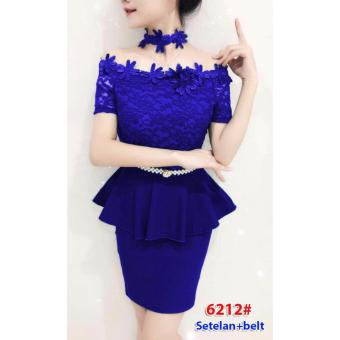 baju pesta import / gaun pesta import / setelan bunga / dress bunga
