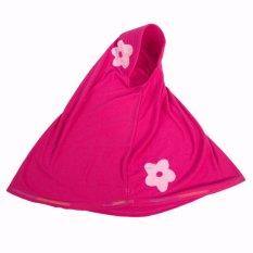 Baju Yuli Jilbab Anak 2 Bunga Lucu Warna Pink
