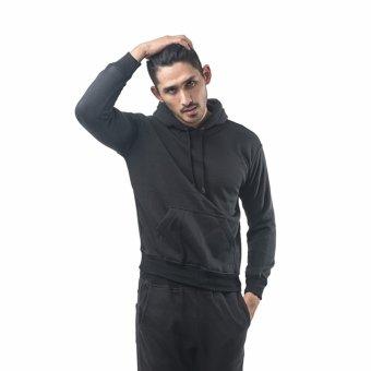 Bajukitaindonesia Jaket Hoodie Jumper Polos Hitam - M-XL