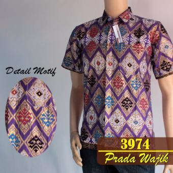 Baladewa Batik Kemeja Pria Prada Ungu 3974