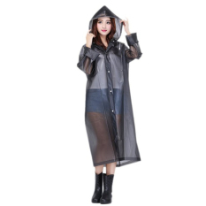 Bang Eva Resin Non-Toxic Lightweight Transparent Rain Jacket Ponchoraincoat L (Black) - Intl