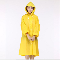 Bang Eva Resin Non-Toxic Lightweight Transparent Rain Jacket Ponchoraincoat L (Yellow)