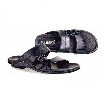 Baricco BRC 395 Sandal Kulit Casual Pria Kulit Asli Modis ( Black )