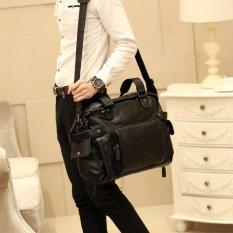 Baru tas bahu tas selempang pria Single Korea tas pria tas jinjing maupun tas pria tas besar tas Travel keren - hitam ukuran kecil