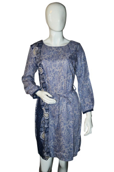 Batik Arjunaweda Sackdress Wanita - Parsley - Abu-abu