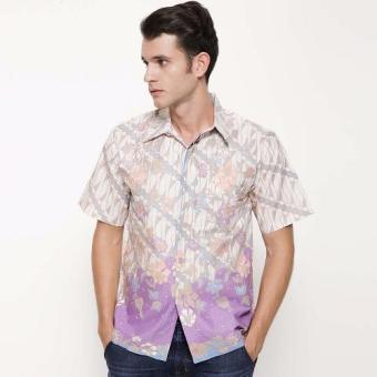 Batik Distro K7961 Kemeja Pria Batik Parang Kombinasi - Ungu