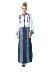 Batik Etniq Craft Gamis Renda-Putih