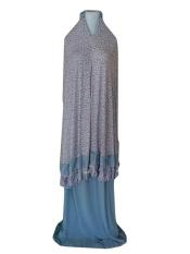 Batik Pitaloka Mukena Katun Jersey [Abu-abu]