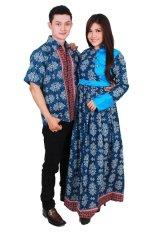 Batik Putri Ayu Batik Sarimbit Putri Ayu Solo SRG99 - Biru