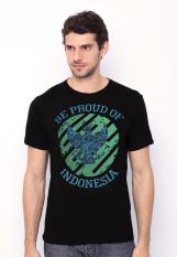 Be Proud Of Indonesia - Garuda Circle Male Tees - Hitam