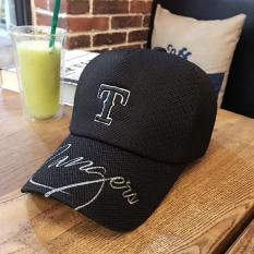 Beberapa Korea Fashion Style bordir musim semi dan musim panas hari topi huruf topi baseball (Hitam)