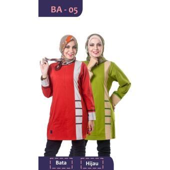 Believe Blouse Atasan BA-05 Kaos Wanita Baju Muslim Tunik Kemeja Kaos Bata
