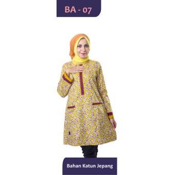 Believe Blouse Atasan BA-07 Kaos Wanita Baju Muslim Tunik Kemeja Kaos Kuning