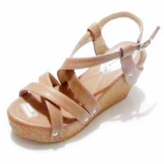 Binev Sendal Wedges Wanita BR 011 - Chocolate