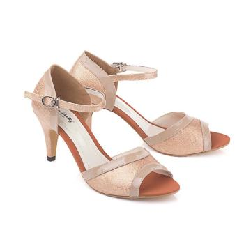 Blackkelly Sandal High Heels Wanita Llm 173 - Cream