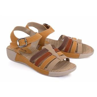 Blackkelly sandal wanita 62-coklat combi