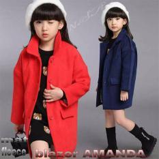 Blazer coat jaket rompi vest korean style kid anak cewek - NAVY