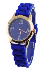 Blue Lans Unisex Silicone Jelly Gel Wrist Watch Dark Blue
