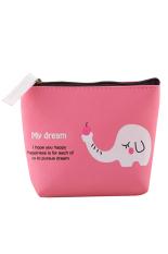 Blue Lans Women's Animal Canvas Coin Pocket Holder Bag Handbag Purse Rose-Red