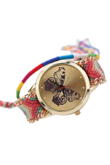 Blue Lans Women's Multicolor Knitted Strap Watch