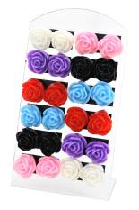 Bluelans® Anting Bunga Set 12 (aneka warna)