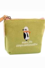 Bluelans Rabbit Pattern Mini Coin Purse Handbag Canvas Pouch Wallet Money Bag Case Green