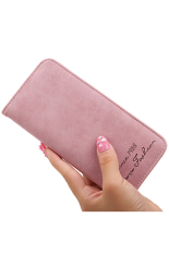 Bluelans Women's Retro Bifold Purse Money Bag Clutch Handbag Card Holder Wallet Pink