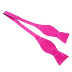 BolehDeals Classic Self Tie Pure Color Bow Tie (Pink)