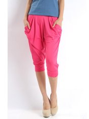 Stylish Candy Color Seven Point Pants Thin Harem Pants Rose