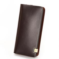 Bostanten Men's Cow Leather Clutch Purse Business Long Wallet Handbags (Brown) - Intl