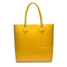 Bostanten Women's Genuine Cowhide Leather Handbag Fashion Real Leather Shoulder Bag Yellow