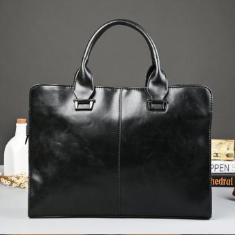 Brand Design Old School Fashion Portable Single Shoulder Bag Crossbody Bag Business Laptop Bag Men's Handbag Men Briefcase Leisure Bag -Black (Intl) - Intl