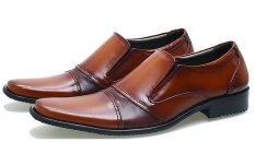 BSM Soga BFH 153 Sepatu Pantofel / Formal / Kerja Pria Kulit Asli - Elegan - Tan