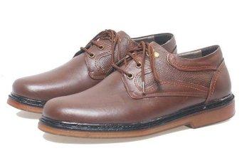 BSM Soga BFH 243 Sepatu Klasik Pantofel / Formal / Kerja Pria - Kulit Asli - Elegan - Coklat