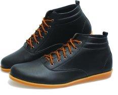 Bsm Soga Sepatu Casual Sneakers Semi Boots Pria - Hitam