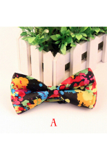 Buytra Men's Fashion Adjustable Printed Bow Tie Polyester Wedding Prom Party Bowtie Multicolored