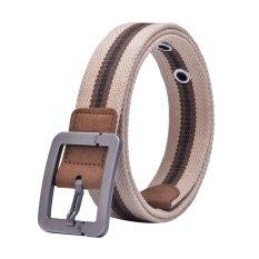 Canvas Strap Pin Buckle Men Belt (Brown) - INTL