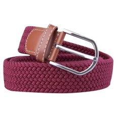 Canvas Woven Stretch Waist Belt With Alloy Pin Buckle