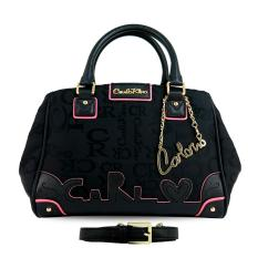 Carlo Rino 0303280-002-08 Signature Small Satchel (Black)