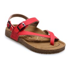 Carvil Khanza - 09L Footbed Sandal Wanita - Merah