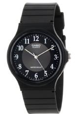 Casio Analog Watch Jam Tangan Unisex - Hitam - Strap Karet - MQ24-1B3LDF