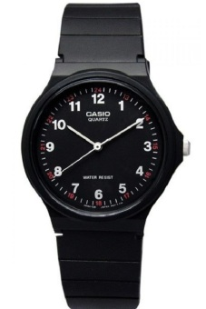 Casio Analog Watch Jam Tangan Unisex - Hitam - Strap Karet - MQ24-1BLDF (Not Defined)